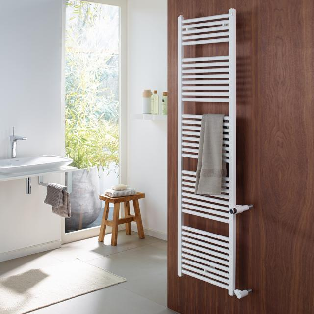 Zehnder Zeno towel radiator as replacement model for hot water or mixed operation white, CD 50 cm, 509 watts