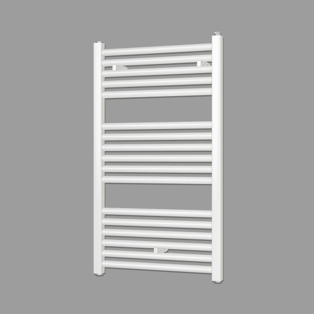 Zehnder Zeno towel radiator for hot water or mixed operation white, with standard connection, single layer, 341 Watt