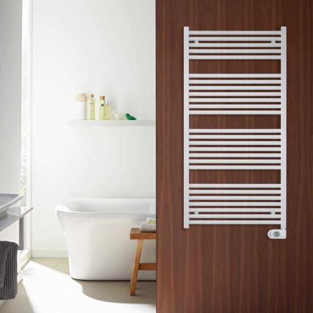Zehnder Zeno towel radiator for purely electrical operation white, 300 Watt