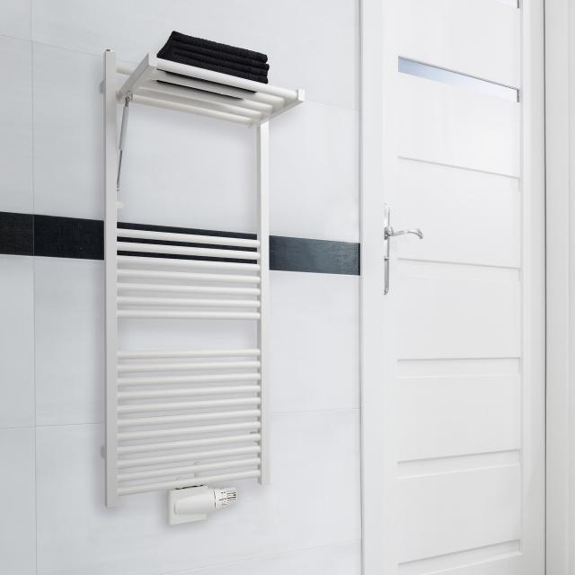 Zehnder Zeno Wing towel radiator for hot water or mixed operation white, 372 Watt