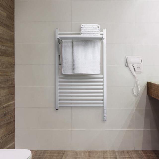 Zehnder Zeno Wing towel radiator for purely electrical operation white, 300 Watt