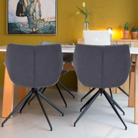 Zuiver Doulton  chair with armrests, set of 2
