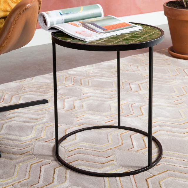 Zuiver Glazed side table Ø 400 H: 450 mm, green